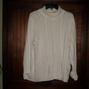 Croft & Barrow cable knit turtleneck sweater XL